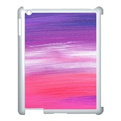 Abstract In Pink & Purple Apple Ipad 3/4 Case (white) by StuffOrSomething
