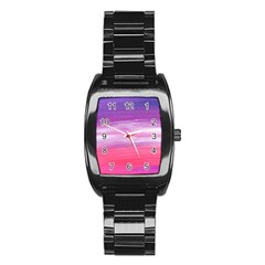 Abstract In Pink & Purple Stainless Steel Barrel Watch by StuffOrSomething