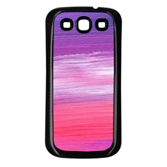 Abstract In Pink & Purple Samsung Galaxy S3 Back Case (black) by StuffOrSomething