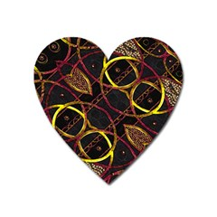 Luxury Futuristic Ornament Magnet (heart) by dflcprints