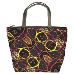 Luxury Futuristic Ornament Bucket Handbag by dflcprints