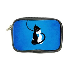 Blue White And Black Cats In Love Coin Purse