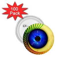 Eerie Psychedelic Eye 1 75  Button (100 Pack)