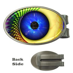 Eerie Psychedelic Eye Money Clip (oval)