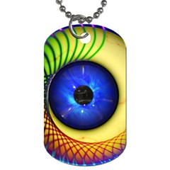 Eerie Psychedelic Eye Dog Tag (two Sided)