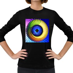 Eerie Psychedelic Eye Women s Long Sleeve T Shirt (dark Colored) by StuffOrSomething