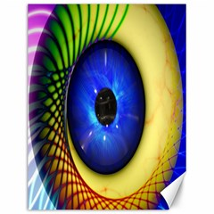 Eerie Psychedelic Eye Canvas 12  X 16  (unframed) by StuffOrSomething