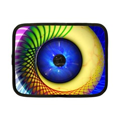 Eerie Psychedelic Eye Netbook Sleeve (small) by StuffOrSomething