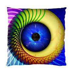 Eerie Psychedelic Eye Cushion Case (two Sided)  by StuffOrSomething
