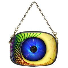 Eerie Psychedelic Eye Chain Purse (two Sided)