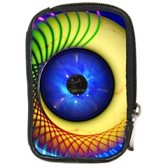 Eerie Psychedelic Eye Compact Camera Leather Case by StuffOrSomething