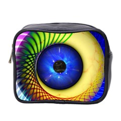 Eerie Psychedelic Eye Mini Travel Toiletry Bag (two Sides)