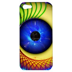 Eerie Psychedelic Eye Apple Iphone 5 Hardshell Case by StuffOrSomething