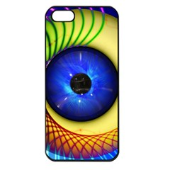 Eerie Psychedelic Eye Apple Iphone 5 Seamless Case (black) by StuffOrSomething