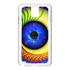Eerie Psychedelic Eye Samsung Galaxy Note 3 N9005 Case (white) by StuffOrSomething