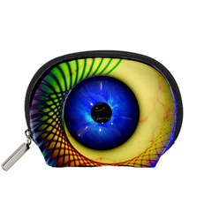 Eerie Psychedelic Eye Accessories Pouch (small) by StuffOrSomething