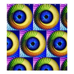Eerie Psychedelic Eye Shower Curtain 66  X 72  (large) by StuffOrSomething