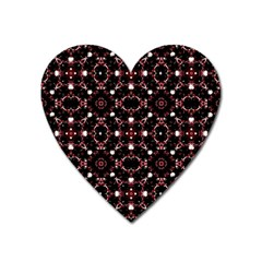 Futuristic Dark Pattern Magnet (heart) by dflcprints