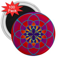 Mandala 3  Button Magnet (100 Pack) by SaraThePixelPixie