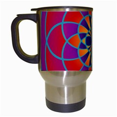 Mandala Travel Mug (white) by SaraThePixelPixie
