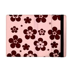 Pink With Brown Flowers Apple Ipad Mini Flip Case