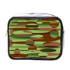 Green And Brown Spheres By Khoncepts Com Mini Toiletries Bag (one Side)