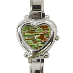 Green And Brown Spheres By Khoncepts Com Heart Italian Charm Watch by Khoncepts