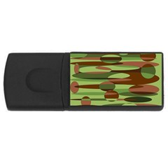 Green And Brown Spheres By Khoncepts Com Usb Flash Drive Rectangular (4 Gb) by Khoncepts