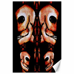 Skull Motif Ornament Canvas 12  X 18  (unframed) by dflcprints