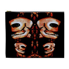 Skull Motif Ornament Cosmetic Bag (xl) by dflcprints