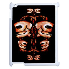 Skull Motif Ornament Apple Ipad 2 Case (white) by dflcprints