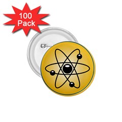 Atom Symbol 1 75  Button (100 Pack) by StuffOrSomething