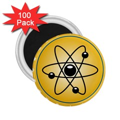 Atom Symbol 2 25  Button Magnet (100 Pack)