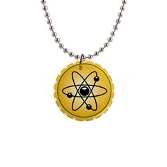Atom Symbol Button Necklace