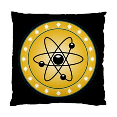 Atom Symbol Cushion Case (two Sided)  by StuffOrSomething