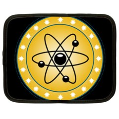 Atom Symbol Netbook Sleeve (xxl) by StuffOrSomething