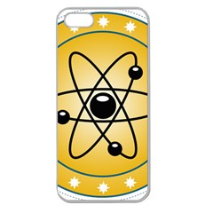 Atom Symbol Apple Seamless Iphone 5 Case (clear) by StuffOrSomething
