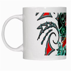 Tribal Dragon White Coffee Mug by TheWowFactor