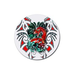 Tribal Dragon Drink Coasters 4 Pack (round) by TheWowFactor