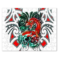 Tribal Dragon Jigsaw Puzzle (rectangle) by TheWowFactor