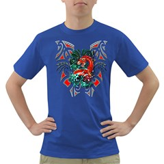 Tribal Dragon Men s T Shirt (colored)