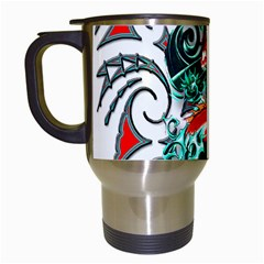 Tribal Dragon Travel Mug (white) by TheWowFactor