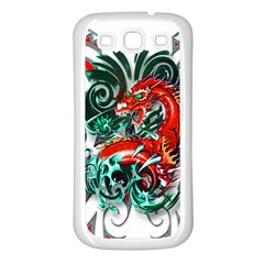 Tribal Dragon Samsung Galaxy S3 Back Case (white) by TheWowFactor
