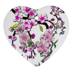 Cherry Bloom Spring Heart Ornament by TheWowFactor