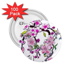 Cherry Bloom Spring 2 25  Button (100 Pack)