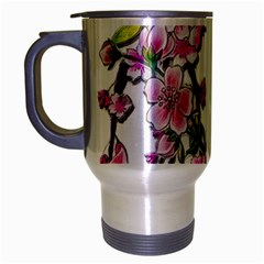 Cherry Bloom Spring Travel Mug (silver Gray) by TheWowFactor
