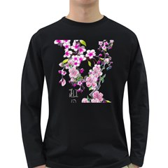 Cherry Bloom Spring Men s Long Sleeve T-shirt (dark Colored)