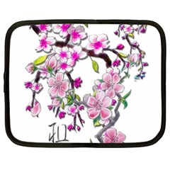 Cherry Bloom Spring Netbook Sleeve (xl) by TheWowFactor