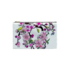 Cherry Bloom Spring Cosmetic Bag (small) by TheWowFactor