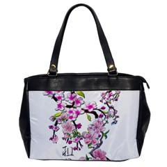Cherry Bloom Spring Oversize Office Handbag (one Side) by TheWowFactor